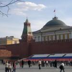 Vörös tér, épülnek a tribünök