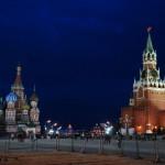 A Vörös tér, sötétedéskor