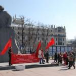 Kommunista tüntetés