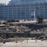 Bontási terület a Vörös tér sarkánál