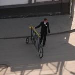 Nem bicigli, hanem parkoló kapu biztonsági õrrel